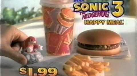 1994-02 McDonald's Sonic the Hedgehog 3 Happy Meal toys commercial-0