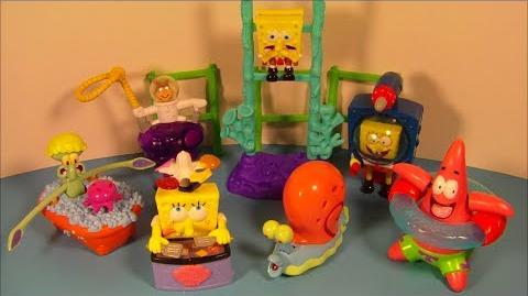 2001 NICKELODEON'S SPONGEBOB SQUAREPANTS SET OF 7 BURGER KING KID'S MEAL TOY'S VIDEO REVIEW