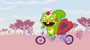 Nutty on bike and box