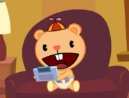 Cub playing a game