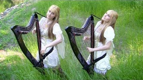 The HOBBIT - Misty Mountains Cold - LOTR (Harp Twins) Camille and Kennerly