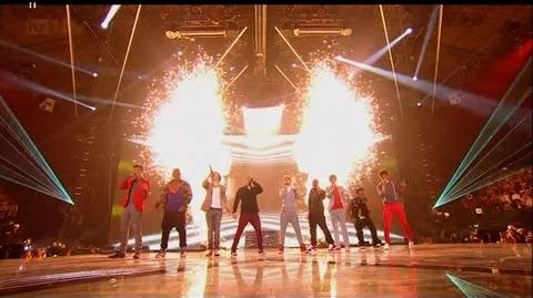 OMG it's JLS vs One Direction - The X Factor 2011 Live Final - itv
