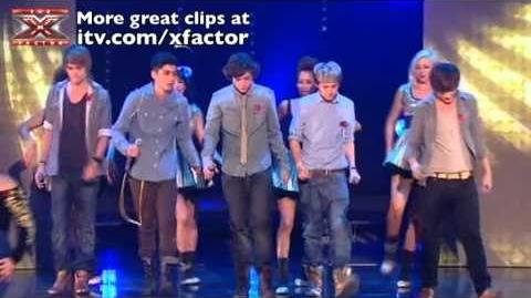 The Finalists perform Can't Stop Moving - The X Factor Live results 6 - itv