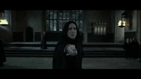 Harry Poter and the Deathly Hallows part 2 - Minerva McGonagall v.s. Severus Snape (HD)