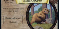 Crazed Capybara (Trading Card)