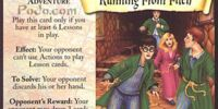 Running from Filch (Trading Card)