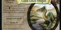 Welsh Green Dragon (Trading Card)