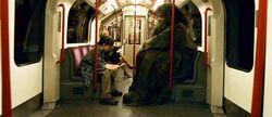 Harry Potter and Hagrid at Muggles Train