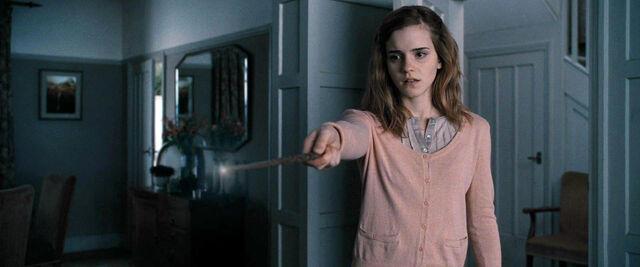File:DH1 Hermione Granger using memory charm spell.jpg