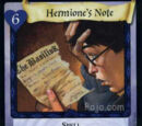 Hermione's Note