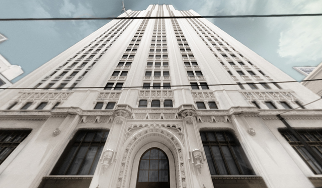 File:Looking up at the Woolworth Building.png