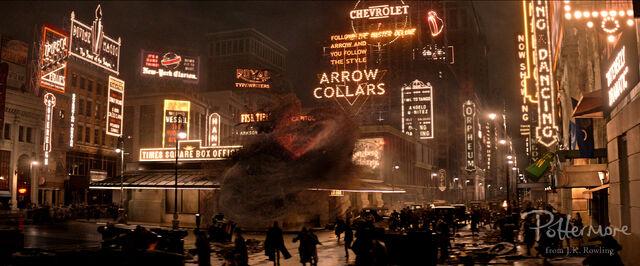 File:Times Square Fantastic Beasts CC Trailer WM.JPG