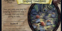 Leaping Toadstools (Trading Card)