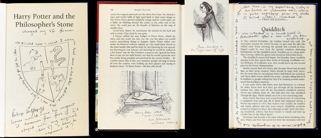 File:First edition of PS annotated by Rowling autionned and then exhibited.png