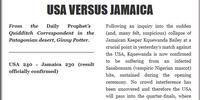 USA VERSUS JAMAICA (II)