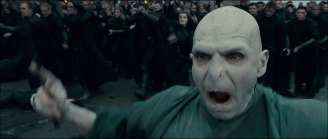 File:Voldemort and his followers at the Battle of Hogwarts.jpg