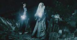 Harry dumbledore-caverna-HP6