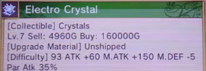 RF4 Upgrade material notice - Electro Crystal