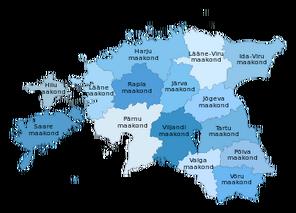 Eesti maakonnad 2006 blue