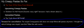 Creepypasta wiki GF1 old user profile lol
