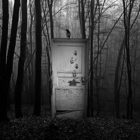 File:Door in woods creepy.jpg