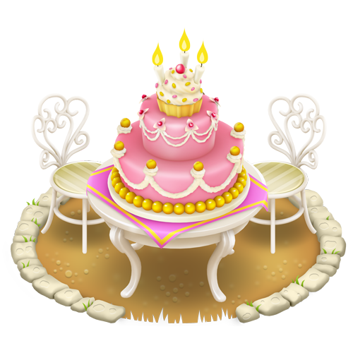 image  birthday cake  hay day wiki  fandom powered by wikia, Beautiful flower