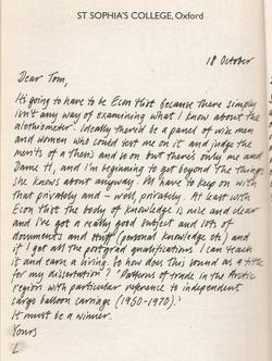 Lyra letter 1
