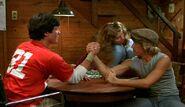Mark arm wrestles Jeff