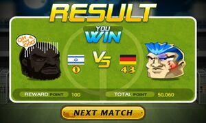 Israel lose against the German guy