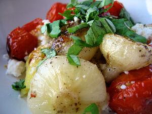 Roasted tomatoes cippolini