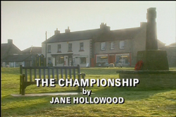 The Championship title card