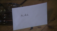Jackie's letter for Mike on the coffee table
