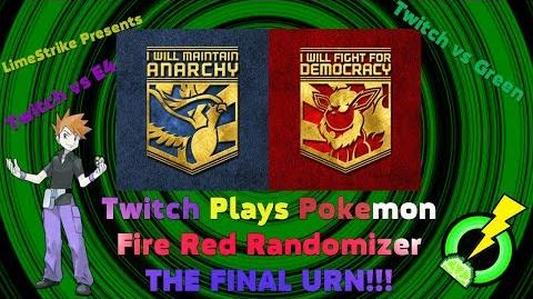Twitch Plays Pokemon Fire Red Randomizer - TWITCH VS E4 GREEN (THE FINAL URN!!!)