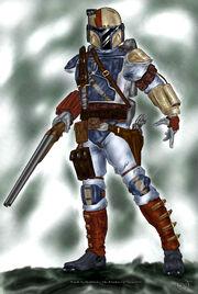 Ayden Stone Mando Gunslinger by CorranFett