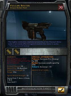 Unique Vulcan Bolter