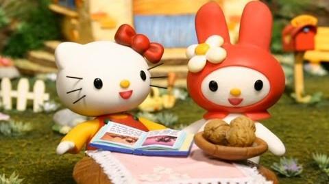 Hello Kitty Stump Village 1. Seesaw Nutcracker