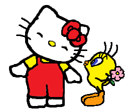 File:Sanrio Characters Tweety Hello Kitty Image018.png