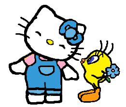 File:Sanrio Characters Tweety Hello Kitty Image017.png