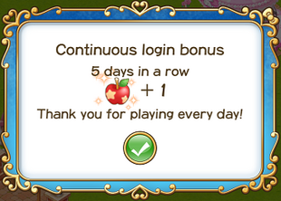 Login bonus day 5