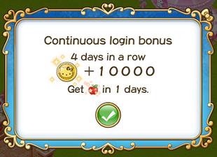 Login bonus day 4th