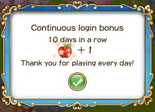 Login bonus 10th day