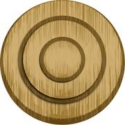 Wood archery target