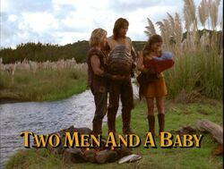 Two men title card