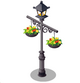 Lamp with Flower Pots