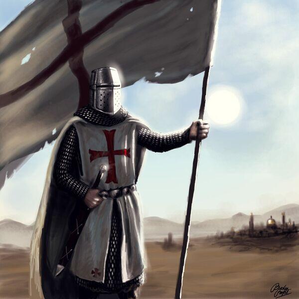 Knight/flag