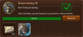 Brown Donkey III