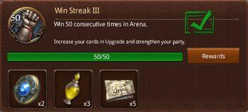 Win streak 3