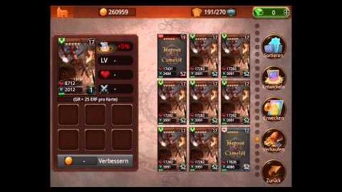 Helden von Camelot Karten richtig Leveln