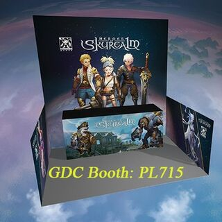 Concept art for The Heroes of Skyrealm booth at GDC 2016