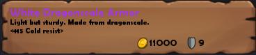 White dragonscale armor desc